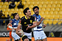 Wellington&rsquo;s Thomas Umaga-Jensen in action during the Mitre 10 Cup - Wellington v Auckland at Westpac Stadium, Wellington, New Zealand on Thursday 4 October 2018. <br /> Photo by Masanori Udagawa. <br /> www.photowellington.photoshelter.com