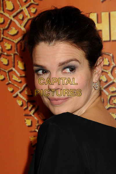 JEANNE TRIPPLEHORN.HBO's 2010 67th Golden Globe Awards Post Party held at the Beverly Hilton Hotel, Beverly Hills, California, USA. .January 17th, 2009 .globes headshot portrait black eyeshadow looking over shoulder.CAP/ADM/BP.©Byron Purvis/Admedia/Capital Pictures