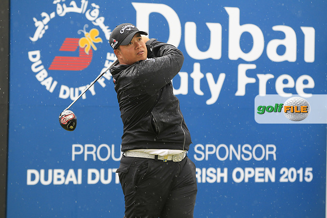 Kiradech APHIBARNRAT (THA) tees off the 1st tee during the Pro-Am of the 2015 Dubai Duty Free Irish Open, Royal County Down Golf Club, Newcastle Co Down, Northern Ireland. 27/05/2015 <br /> Picture Eoin Clarke, www.golffile.ie