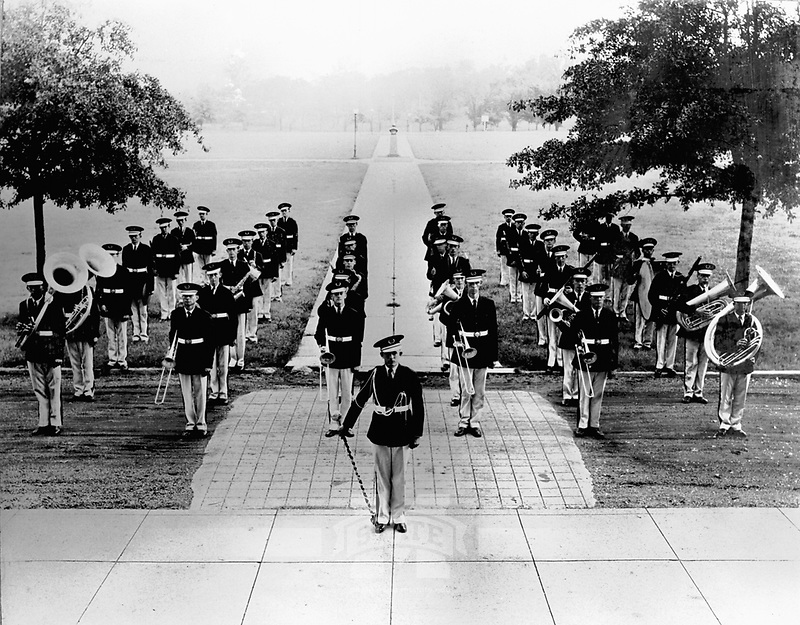 Band on Drill Field in 1927 <br />