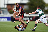 George Gasson of the Dragons takes on the Ealing Trailfinders defence. Pre-season friendly match, between Ealing Trailfinders and the Dragons on August 11, 2018 at the Trailfinders Sports Ground in London, England. Photo by: Patrick Khachfe / Onside Images