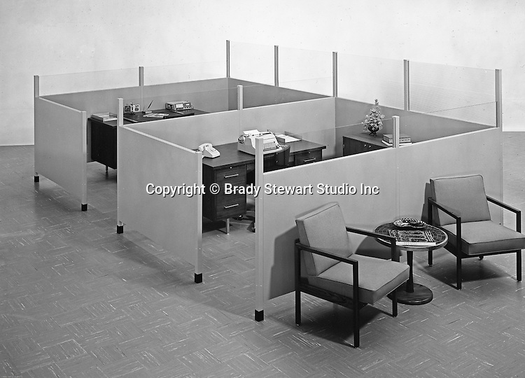 Pittsburgh PA:  View of Office Products Cubicles and furniture - 1967