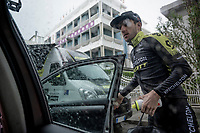 Simon Yates (GBR/Mitchelton-Scott) returning to the team hotel after the race<br /> <br /> Stage 9 (ITT): Riccione to San Marino (34.7km)<br /> 102nd Giro d'Italia 2019<br /> <br /> ©kramon