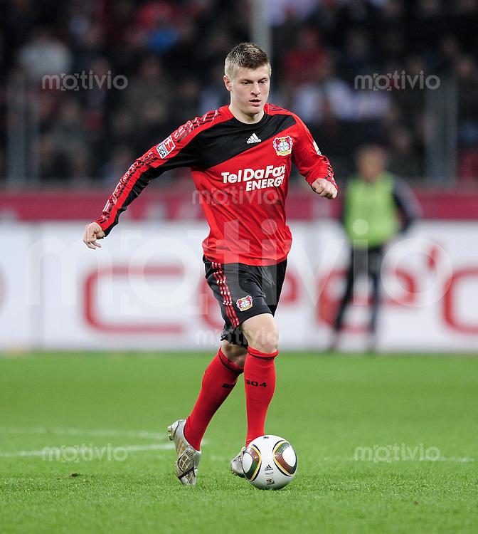 Fussball 1. Bundesliga: Saison   2009/2010   30. Spieltag   Bayer 04 Leverkusen - FC Bayern Muenchen   10.04.2010 Toni Kroos (Leverkusen)