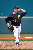 Pittsburgh Pirates pitcher Tony Watson (44) delivers a pitch during a Spring Training game against the Toronto Blue Jays  on March 3, 2016 at McKechnie Field in Bradenton, Florida.  Toronto defeated Pittsburgh 10-8.  (Mike Janes/Four Seam Images)