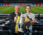William Hill Scottish Cup 5th Round draw. Hampden Park: Mark Hateley from Rangers and Grant Anderson of Raith Rovers