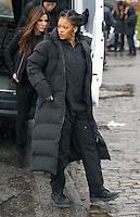 www.acepixs.com<br /> <br /> January 24 2017, New York City<br /> <br /> (R-L) Sandra Bullock and Rihanna on the Midtown Manhattan set of the new movie 'Ocean's Eight' on January 24 2017 in New York City<br /> <br /> By Line: Zelig Shaul/ACE Pictures<br /> <br /> <br /> ACE Pictures Inc<br /> Tel: 6467670430<br /> Email: info@acepixs.com<br /> www.acepixs.com
