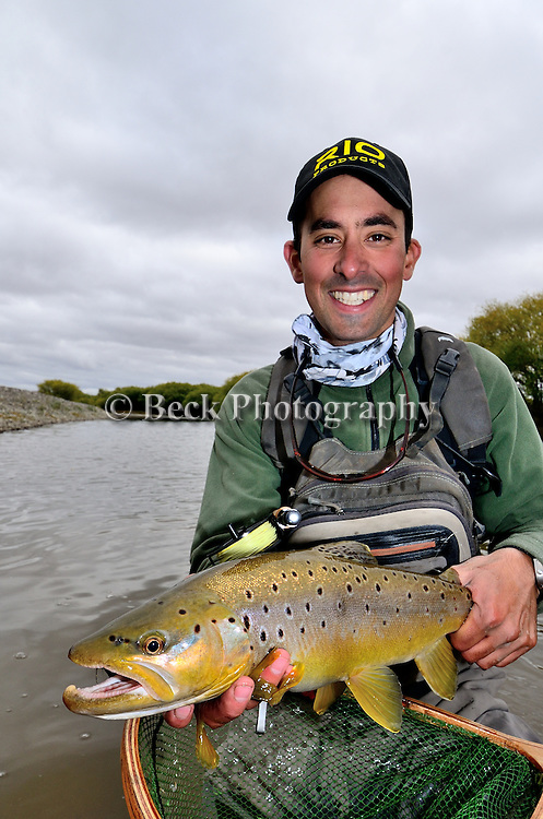 Emiliano Attadia and  brown trout
