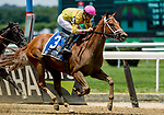 ELMONT, NY - JUNE 09: Monomoy Girl  #3, ridden by Florent Geroux, wins the Acorn Stakes on Belmont Stakes Day at Belmont Park on June 9, 2018 in Elmont, New York. (Photo by Bob Mayberger/Eclipse Sportswire/Getty Images)