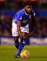 Jeremie Boga of Birmingham in action during the Sky Bet Championship match between Birmingham City and Derby County at St Andrews, Birmingham, England on 13 January 2018. Photo by Bradley Collyer / PRiME Media Images.