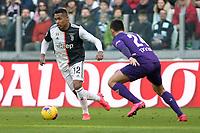 2nd February 2020; Allianz Stadium, Turin, Italy; Serie A Football, Juventus versus Fiorentina; Alex Sandro of Juventus turns on the inside of Marco Benassi of Fiorentina
