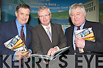 BOOK: Donal Hickey of the Examiner who launched his new book on Kerry Airport in The Earl of Desmond Hotel, Tralee on Sunday helping donal to launch the book l-r: Dr Sean Barrett, Donal Hickey and Denis Cregan.......
