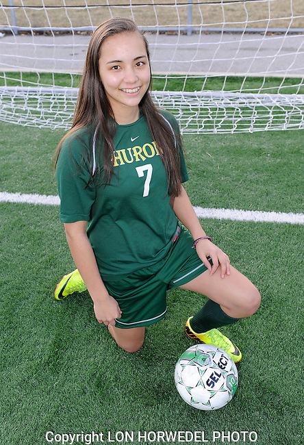 Huron High School girl's junior varsity soccer team.
