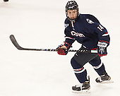 Will Golonka (UConn - 14) - The Boston College Eagles defeated the visiting University of Connecticut Huskies 3-2 on Saturday, January 24, 2015, at Kelley Rink in Conte Forum in Chestnut Hill, Massachusetts.