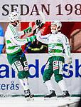 V&auml;ster&aring;s 2015-02-01 Bandy Elitserien V&auml;ster&aring;s SK  - Edsbyns IF :  <br /> V&auml;ster&aring;s Johan Esplund jublar med V&auml;ster&aring;s Simon Folkesson efter sitt 4-1 m&aring;l under matchen mellan V&auml;ster&aring;s SK  och Edsbyns IF <br /> (Foto: Kenta J&ouml;nsson) Nyckelord:  Bandy Elitserien ABB Arena Syd V&auml;ster&aring;s SK VSK Edsbyn EIF Byn jubel gl&auml;dje lycka glad happy
