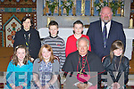 Pupils Clonkeen NS students who received their Confirmation at St Agatha's church Glenflesk on Thursday front row l-r: Aoife Cronin, Mary O'Sullivan, Bishop Bill Murphy, Claire Cronin. Back row: Carmel O'Sullivan, Christopher O'Donoghue, Lee O'Donoghue and Denis O'Sullivan Principal