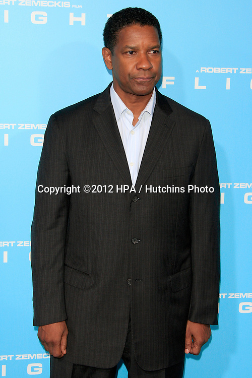 "LOS ANGELES - OCT 23:  Denzel Washington arrives at the ""Flight"" Premiere at ArcLight Cinemas on October 23, 2012 in Los Angeles, CA"
