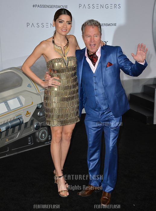 Actors Blanca Blanco &amp; John Savage at the world premiere of &quot;Passengers&quot; at the Regency Village Theatre, Westwood. <br /> December 14, 2016<br /> Picture: Paul Smith/Featureflash/SilverHub 0208 004 5359/ 07711 972644 Editors@silverhubmedia.com