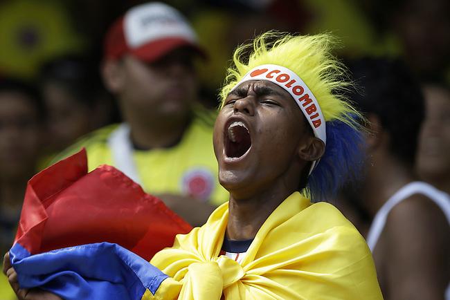 Hinchas de Colombian durante el en partido de eliminatorias para el Mundial de F&uacute;tbol 2018 contra Ecuador en el Estadio Metropolitano Roberto Melendez de Barranquilla el 29 de marzo de 2016.<br /> <br /> Foto: Archivolatino<br /> <br /> COPYRIGHT: Archivolatino<br /> Prohibido su uso sin autorizaci&oacute;n.