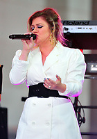 NEW YORK, NY - OCTOBER 11:  Kelly Clarkson on NBC's Today promoting and celebrating International Day of the Girl in New York City on October 11, 2018. Credit: John Palmer/MediaPunch