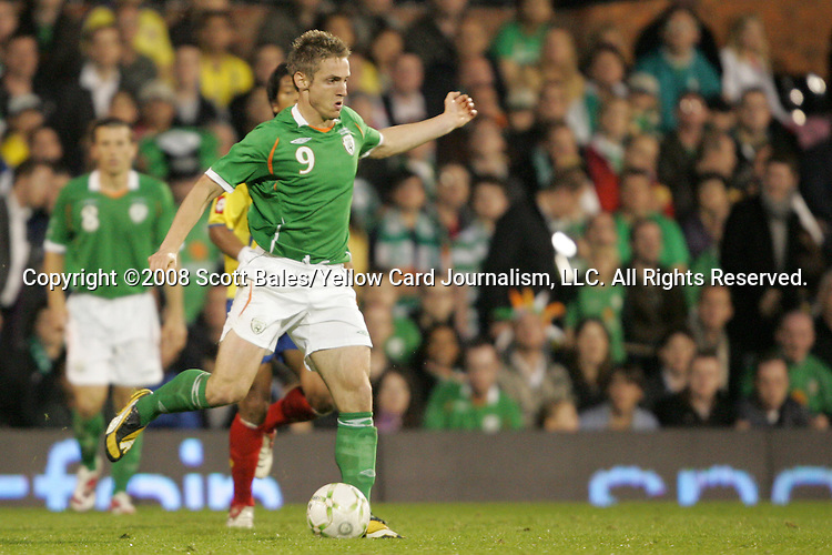 29 May 2008: Kevin Doyle (IRL). The Republic of Ireland Men's National Team defeated the Colombia Men's National Team 1-0 at Craven Cottage in London, England in an international friendly soccer match.