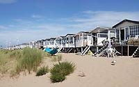 Nederland  IJmuiden aan Zee - 2019.  Strandhuisjes. Vakantie in eigen land.  Foto Berlinda van Dam / Hollandse Hoogte