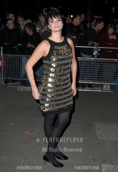Gizzie Erskine arriving for the Cosmopolitan Ultimate Women of the Year Awards , Victoria & Albert Museum, London. 30/10/2012 Picture by: Simon Burchell / Featureflash