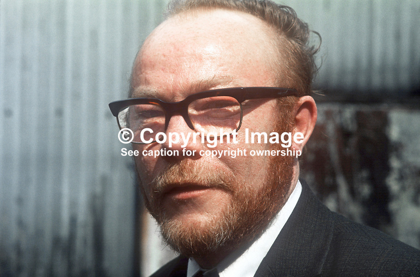 Jim Sullivan, Republican Clubs, candidate, West Belfast, May 1975 N Ireland Convention Election. 197504000405a<br />