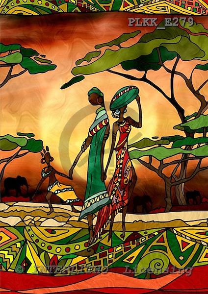 Kris, MODERN, ethnical, paintings, PLKKE279,#n# étnico, illustrations, pinturas