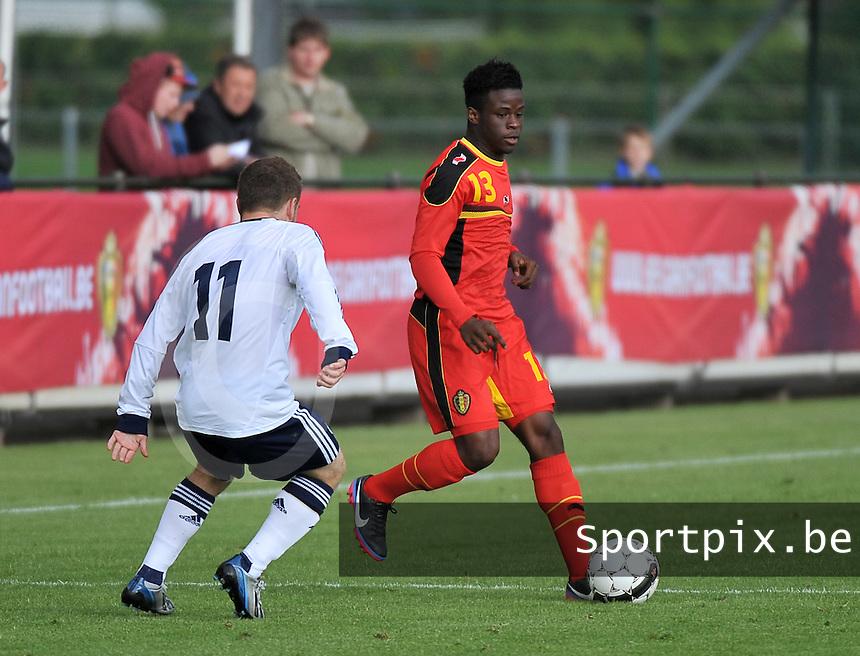 Scotland U19 - Belgium U19 : Jordan Kevin Atheba (13).foto DAVID CATRY / Nikonpro.be