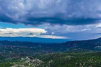landscape area, sky, and clouds view of the Los Locos mountains in Aconchi and Banamichi, Sonora Mexico. Cloudy day and rainy season. Grey sky. (Photo: <br /> <br /> LuisGutierrez/NortePhoto.com)<br /> <br /> Vista area de paisaje, cielo, y nubes de la sierra Los locos en  Aconchi y Banamichi, Sonora Mexico. Dia nublado y temporada de lluvias. Cielo gris. <br /> (Photo: LuisGutierrez/NortePhoto.com)
