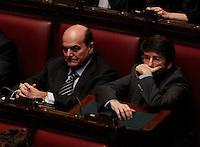 ROMA SEDUTA DI INSEDIAMENTO ALLA CAMERA DEI DEPUTATI DEL PARLAMEENTO ITALIANO.NELLA FOTO PIERLUIGI BERSANI FRANCESCHINI.FOTO CIRO DE LUCA