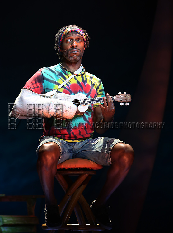 Andre Ward during the Press Sneak Peak for the Jimmy Buffett  Broadway Musical 'Escape to Margaritaville' on February 15, 2018 at the Marquis Theatre in New York City.