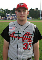August 12, 2003:  Pitcher Mike Collar of the Tri-City ValleyCats during a game at Dwyer Stadium in Batavia, New York.  Photo by:  Mike Janes/Four Seam Images
