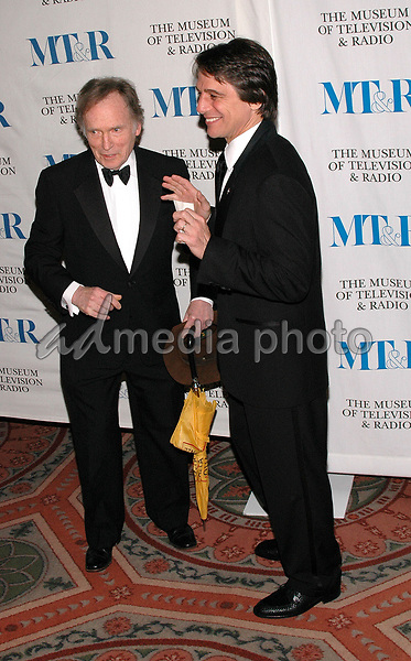 26 May 2005 - New York, New York - Tony Danza and Dick Cavett arrive at The Museum of Television and Radio's Annual Gala where Merv Griffin is being honored for his award winning career in radio and television.<br />