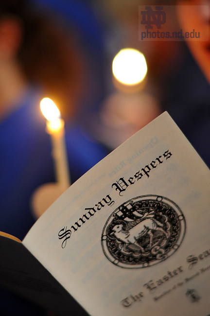 Sunday Vespers in the Basilica..Photo by Matt Cashore/University of Notre Dame