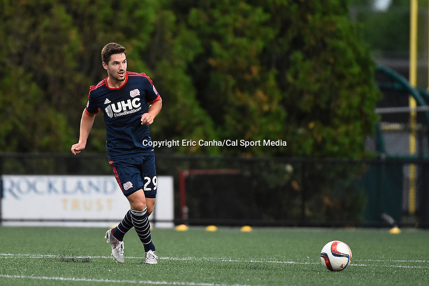 June 17, 2015 - Boston, Massachusetts, U.S. - New England Revolution midfielder Tyler Rudy (29) in game action during the US Open Cup fourth round between the New England Revolution and the Charlotte Independence held at Harvard's Soldiers Field Soccer Stadium. The Independence defeated the Revolution 1-0.  Eric Canha/CSM
