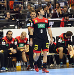10.01.2019, Mercedes Benz Arena, Berlin, GER, Handball WM 2019, Deutschland vs. Korea, im Bild <br /> Uwe Gensheimer (GER #3), Cheftrainer (Head Coach) Christian Prokop (GER)<br /> <br />      <br /> Foto © nordphoto / Engler