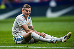Toni Kroos of Real Madrid reacts during the La Liga 2017-18 match between Atletico de Madrid and Real Madrid at Wanda Metropolitano  on November 18 2017 in Madrid, Spain. Photo by Diego Gonzalez / Power Sport Images