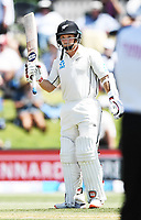 23rd November 2019; Mt Maunganui, New Zealand;  BJ Watling 50 not out during play on Day 3, 1st Test match between New Zealand versus England. International Cricket at Bay Oval, Mt Maunganui, New Zealand.  - Editorial Use