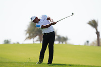 Ashun Wu (CHN) on the 9th during Round 4 of the Saudi International at the Royal Greens Golf and Country Club, King Abdullah Economic City, Saudi Arabia. 02/02/2020<br /> Picture: Golffile | Thos Caffrey<br /> <br /> <br /> All photo usage must carry mandatory copyright credit (© Golffile | Thos Caffrey)