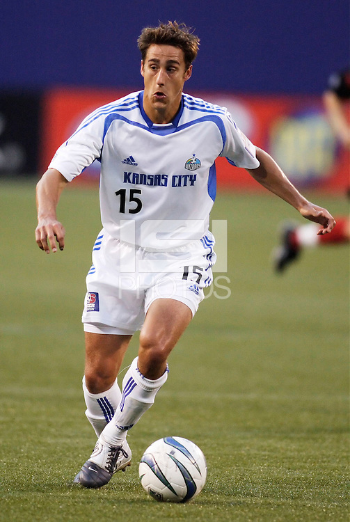 The Wizard's Josh Wolff. The Kansas City Wizards were defeated by  the NY/NJ MetroStars to a 1 to 0 at Giant's Stadium, East Rutherford, NJ, on May 30, 2004.
