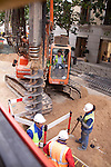 Street scene of Construction crew at work