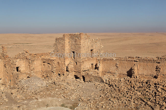 Qsar Bshir, Mobene fortress, best preserved Roman fort in the world, Castra Praetoria, built 293 - 305, el-Qatrana, Jordan desert, Jordan. Picture by Manuel Cohen