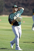 Gio Gonzalez #47 of the Oakland Athletics participates in spring training workouts at the Athletics complex on February 16, 2011  in Phoenix, Arizona. .Photo by:  Bill Mitchell/Four Seam Images.