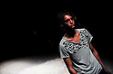 ..October 15, 2012, Tokyo, Japan - A model poses on the catwalk wearing ''JUN OKAMOTO'' during Mercedes-Benz Fashion Week Tokyo 2013 Spring/Summer. The Mercedes-Benz Fashion Week Tokyo runs from October 13-20. (Photo by Yumeto Yamazaki/Nippon News)