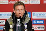 03.11.2018, BayArena, Leverkusen, GER, 1. FBL,  Bayer 04 Leverkusen vs. TSV 1899 Hoffenheim,<br />  <br /> DFL regulations prohibit any use of photographs as image sequences and/or quasi-video<br /> <br /> im Bild / picture shows: <br /> Pressekonferenz (PK) nach dem Spiel,  Julian Nagelsmann Cheftrainer (Hoffenheim),<br /> Foto &copy; nordphoto / Meuter