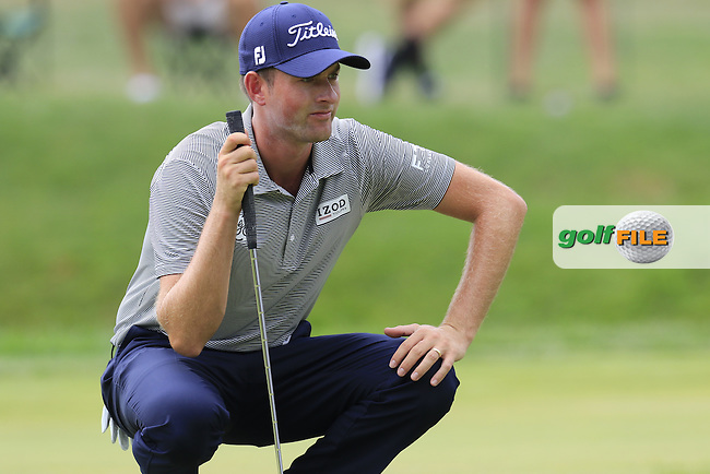 Webb SIMPSON (USA) on the 7th green during Sunday's Final Round of the 2015 Bridgestone Invitational World Golf Championship held at the Firestone Country Club, Akron, Ohio, United States of America. 9/08/2015.<br /> Picture Eoin Clarke, www.golffile.ie