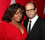 Da'Vine Joy Randolph & Chris Bauer attending the Opening Night After Party for the Atlantic Theater Company's 'What Rhymes with America' at Moran's in New York on December 12, 2012