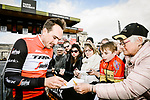 John Degenkolb (GER) Trek-Segafredo at the team presentations in Compiegne before Paris-Roubaix 2019, Compuiegne, France. 13th April 2019<br /> Picture: ASO/Pauline Ballet | Cyclefile<br /> All photos usage must carry mandatory copyright credit (&copy; Cyclefile | ASO/Pauline Ballet)